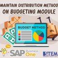 SAP Business One Tips Maintain Distribution Method on Budgeting