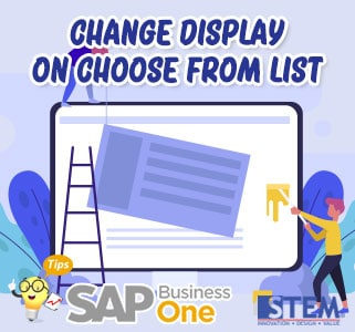 SAP Business One Tips Change Display on Choose From List
