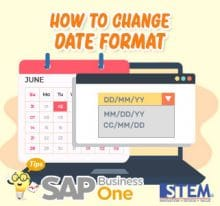 SAP Business One Tips How to Change Date Format