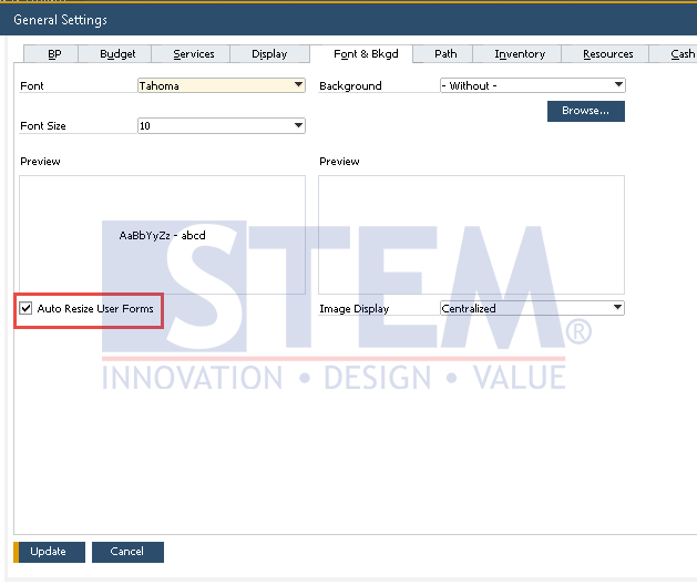 SAP Business One Tips - Auto Resize UDO Form
