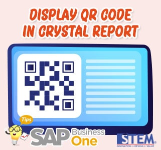 SAP Business One Tips Display QR Code in Crystal Report