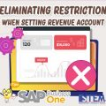SAP Business One Tips Eliminating Restriction When Setting Revenue Account