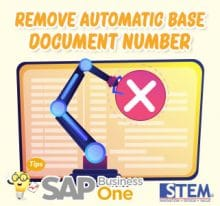 SAP Business One Tips Remove Base Automatic Document Number