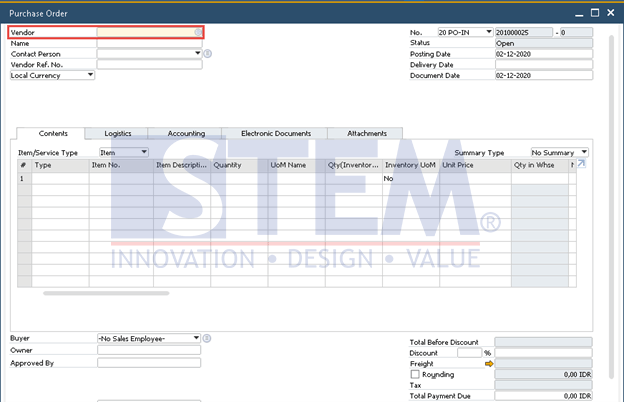 SAP Business One Tips - Add the Search Criteria on Form Settings