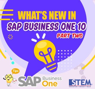 Whats New in SAP Business One 10 part 2