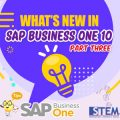 Whats New in SAP Business One 10 part 3