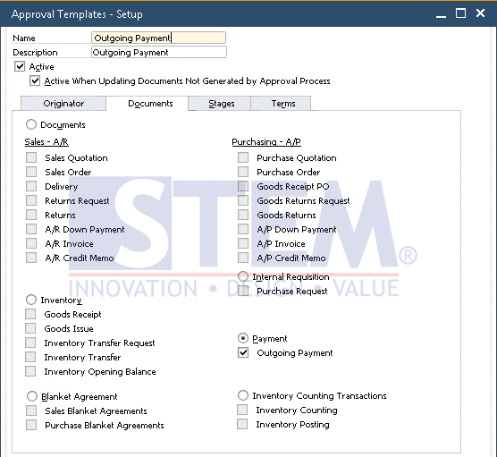 SAP Business One Tips - Deactivate Approval Template