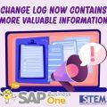 SAP Business One Tips Change Log