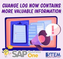 SAP Business One Tips Change Log