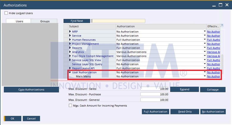 SAP Business One Tips - Setup Additional Authorization Creator