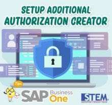 SAP Business One Tips Setup additional authorization creator