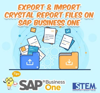 SAP Business One Tips Export and Import Crystal Report Files on SAP Business One