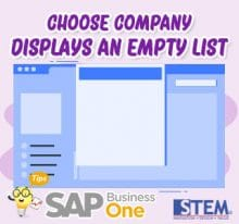 SAP Business One Tips Choose Company Display an Empty List
