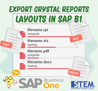 SAP Business One Tips Export Crystal Reports Layouts