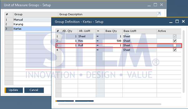 SAP Business One Tips - Inactive UOM that Doesn't Match in a Group