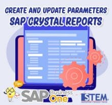 SAP Business One Tips Create Parameters Crystal Reports