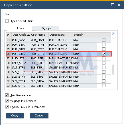 SAP Business One Tips - How to Copy Form Settings for Selected Forms