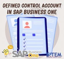 How to Defined Control Account in SAP Business One