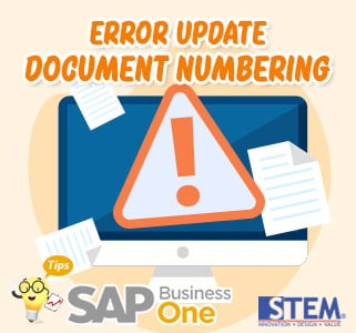 SAP B1 Tips Error Update Document Numbering