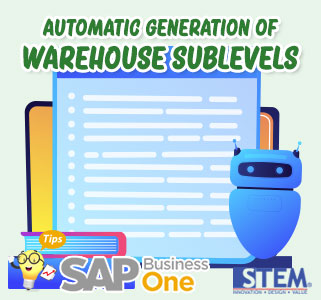 SAP B1 Tips Automatic Generation of Warehouse Sublevels