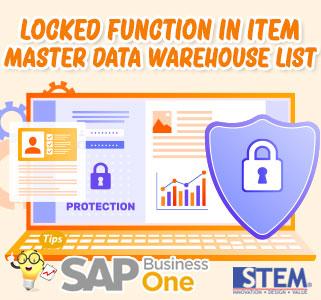 SAP B1 Tips Locked Function in Master Data