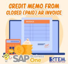 Credit Memo from Closed AR Invoice