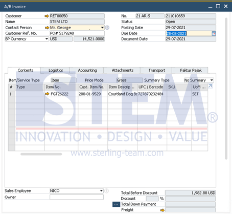 SAP Business One Tips - Credit Memo from Closed (Paid) AR Invoice