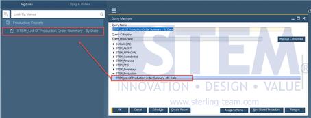 SAP Business One Tips - Set User Query to SAP Business One Main Menu