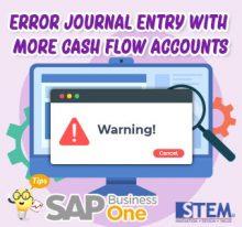 sap b1 tips error journal entry