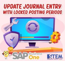 update journal entry with posting periodes