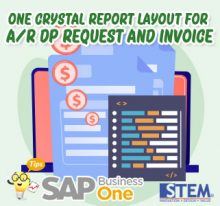 using one crystal report layout for ar dp request and ar dp invoice
